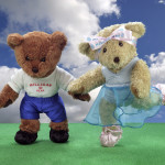 Melody Bear is dancing with Milligan Bear